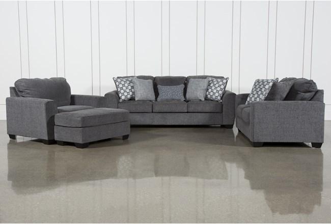 Banks 4 Piece Living Room Set With Queen Sleeper - 360