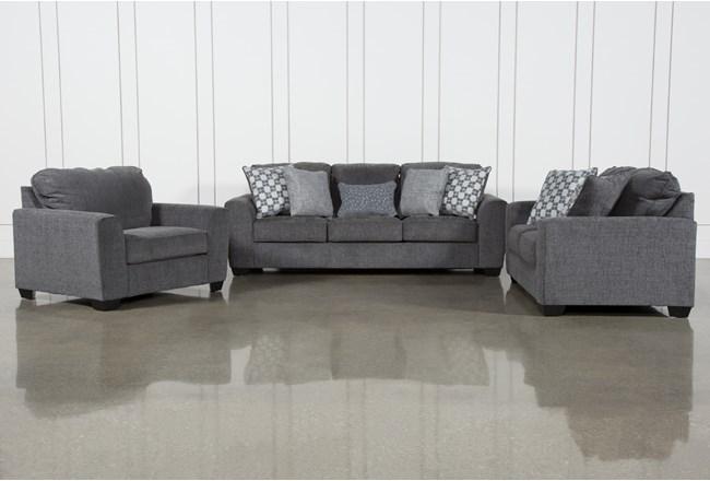 Banks 3 Piece Living Room Set With Queen Sleeper - 360