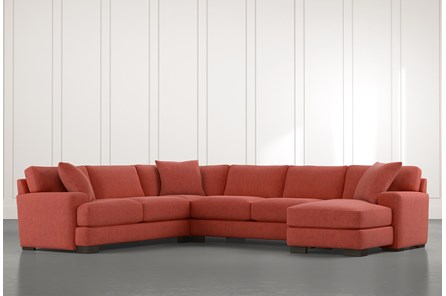 Aidan II Red 4 Piece Sectional