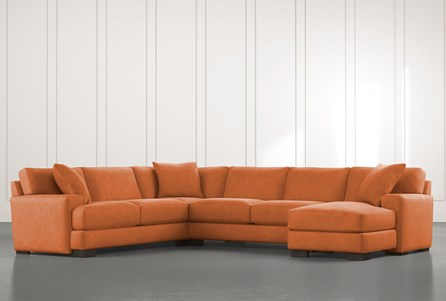Aidan II Orange 4 Piece Sectional