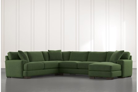 Aidan II Green 4 Piece Sectional