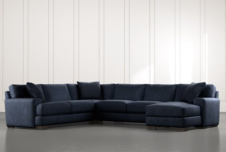 Aidan II Navy Blue 4 Piece Sectional