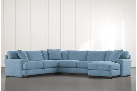 Aidan II Light Blue 4 Piece Sectional