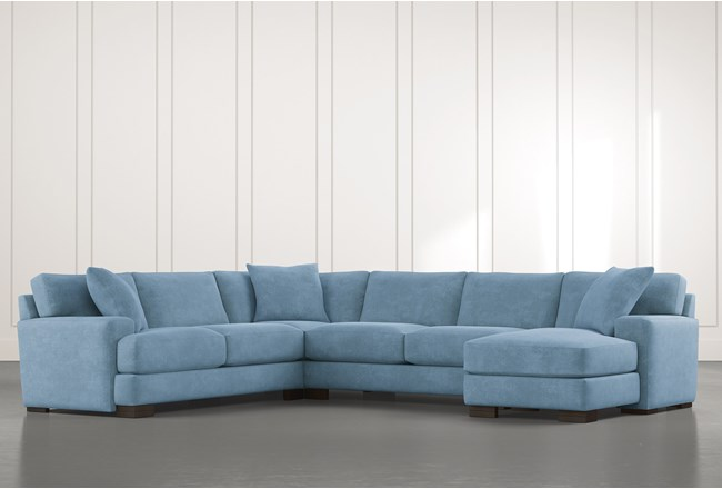 Aidan II Light Blue 4 Piece Sectional - 360