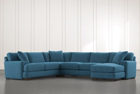 Aidan II Teal 4 Piece Sectional