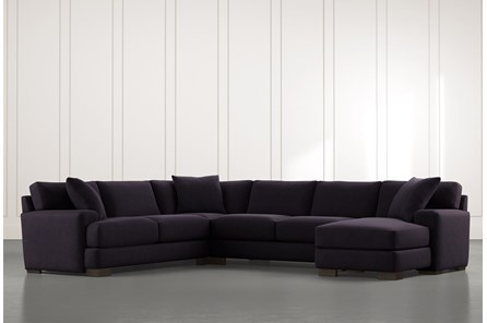 Aidan II Black 4 Piece Sectional