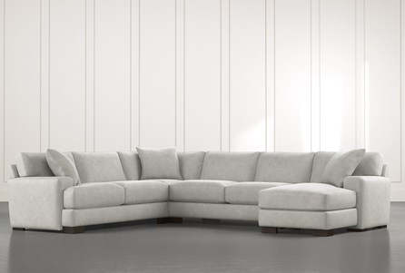 Aidan II Light Grey 4 Piece Sectional