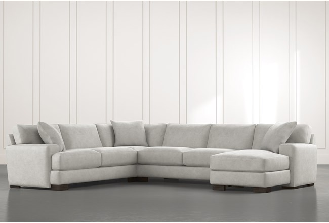 Aidan II Light Grey 4 Piece Sectional - 360