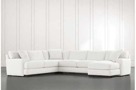 Aidan II White 4 Piece Sectional