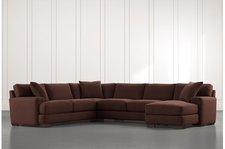 Aidan II Brown 4 Piece Sectional