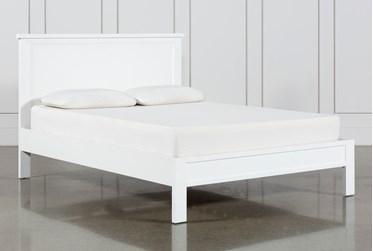 Larkin White California King Panel Bed