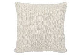 Accent Pillow-Ivory Stonewashed Linen 22X22