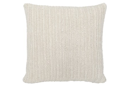 Accent Pillow-Ivory Stonewashed Linen 22X22 - Main