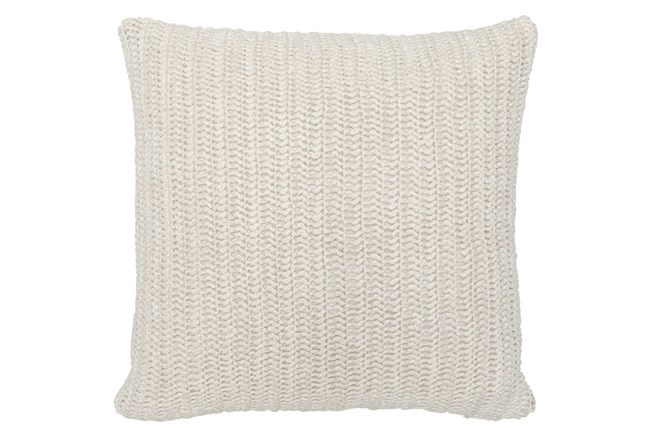 Accent Pillow-Ivory Stonewashed Linen 22X22 - 360
