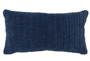 Accent Pillow-Indigo Stonewashed Linen 14X26