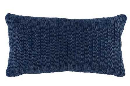 Accent Pillow-Indigo Stonewashed Linen 14X26 - Main