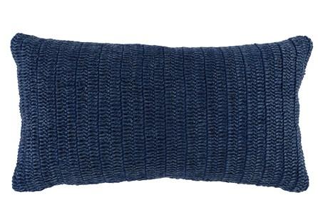 Accent Pillow-Indigo Stonewashed Linen 14X26 - Main