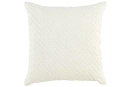 Accent Pillow-Ivory Hexagon Belgian Linen 22X22