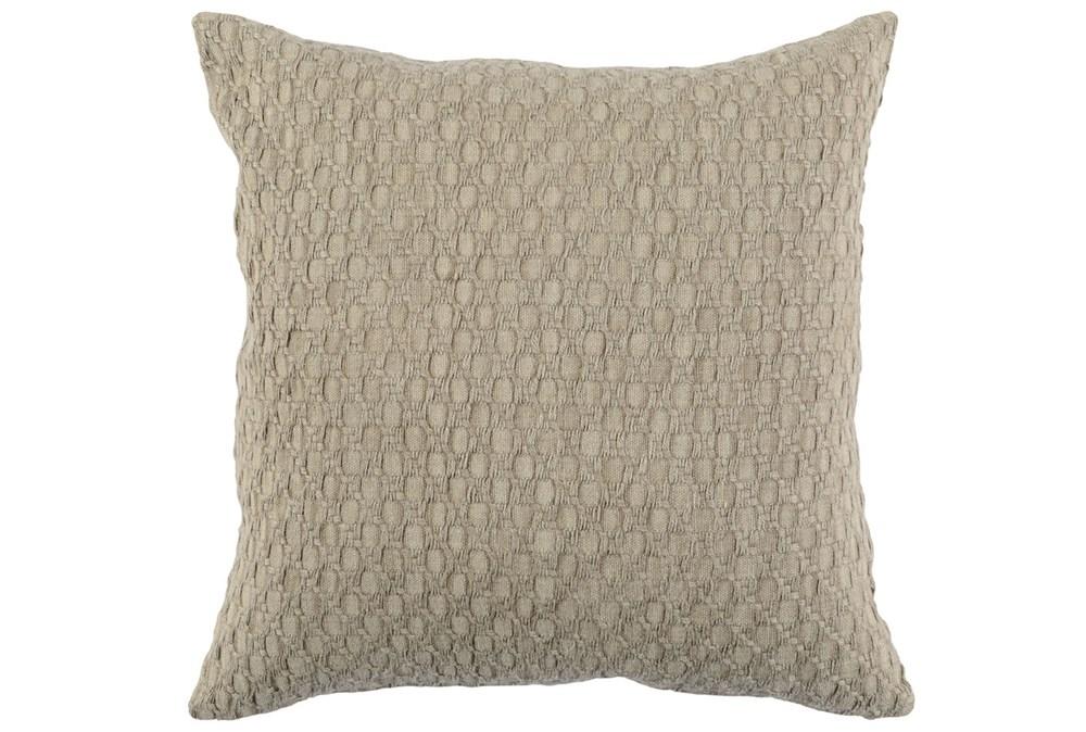 Accent Pillow-Latte Hexagon Belgian Linen 22X22