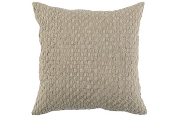 Accent Pillow-Latte Hexagon Belgian Linen 22X22