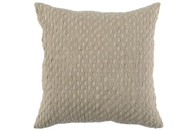Accent Pillow-Latte Hexagon Belgian Linen 22X22 - 360