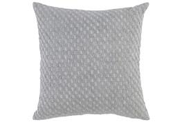 Accent Pillow-Grey Hexagon Belgian Linen 22X22