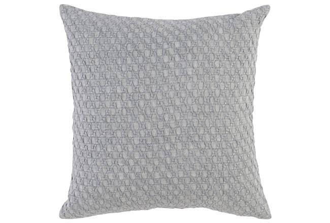 Accent Pillow-Grey Hexagon Belgian Linen 22X22 - 360