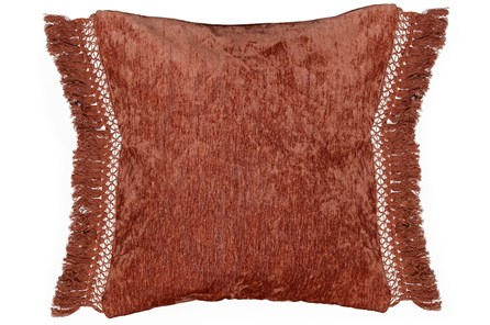 Accent Pillow-Sienna Chenille Fringe 20X20 - Main