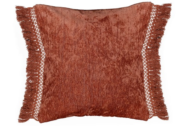 Accent Pillow-Sienna Chenille Fringe 20X20 - 360