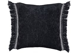 Accent Pillow-Black Chenille Fringe 20X20