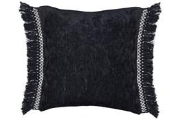 Accent Pillow-Black Chenille Fringe 20X20