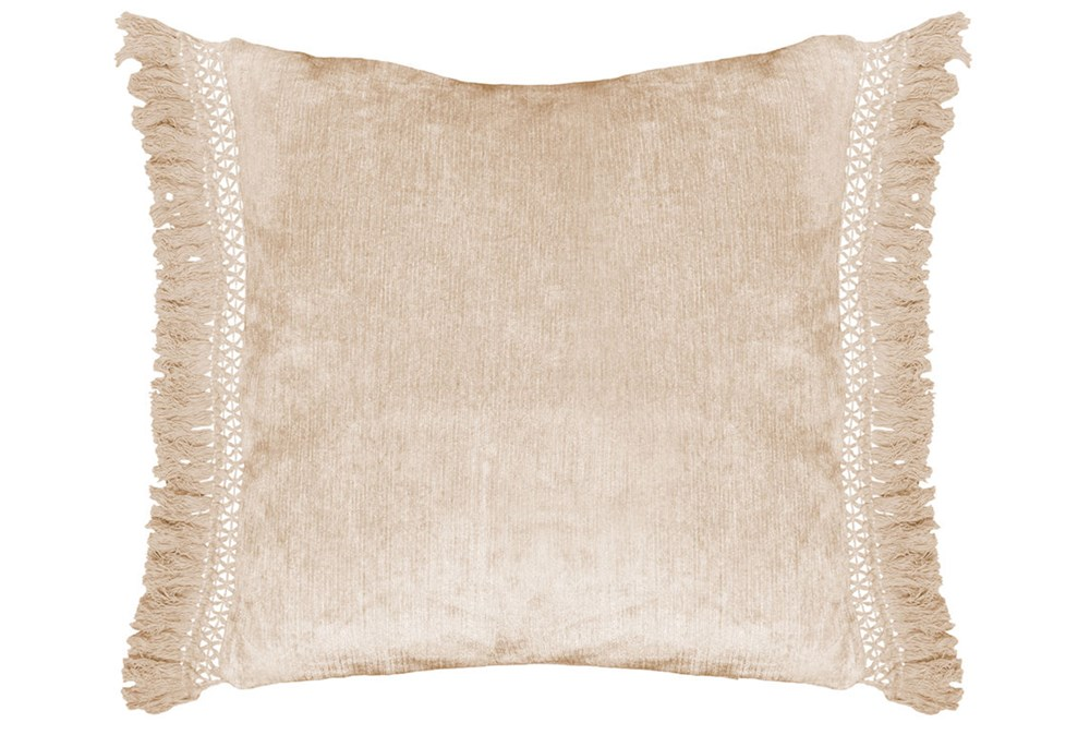 Accent Pillow-Natural Chenille Fringe 20X20