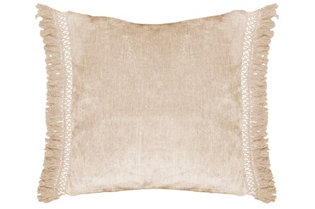 Accent Pillow-Natural Chenille Fringe 20X20 - Main