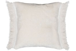 Accent Pillow-Ivory Chenille Fringe 20X20