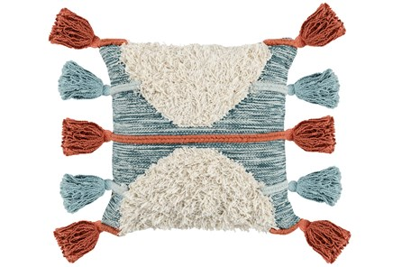 Accent Pillow-Sienna And Sky Side Tassels 20X20
