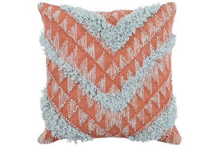 Accent Pillow-Sienna And Sky Chevron 22X22