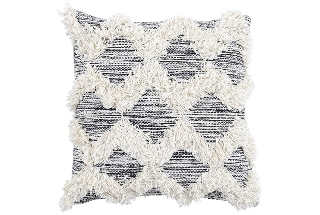 Accent Pillow-Co Maeve Black/Ivory 20X20 - 360