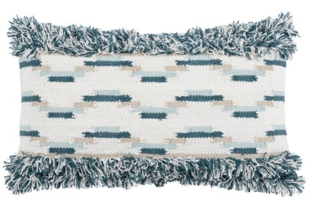 Accent Pillow-Juniper Flatweave Fringe 14X26