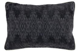 Accent Pillow-Black Tonal Diamonds 14X20
