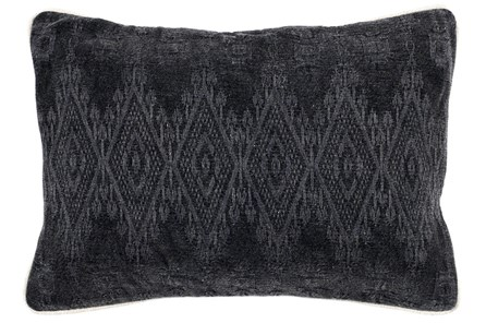 Accent Pillow-Black Tonal Diamonds 14X20
