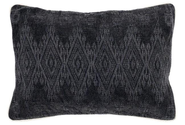 Accent Pillow-Black Tonal Diamonds 14X20 - 360