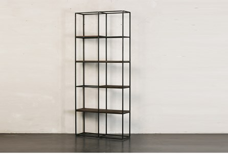 OTB SMALL MULTI SHELF BOOKCASE