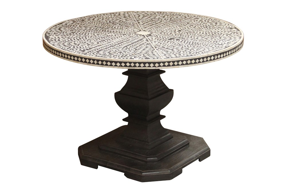 Charcoal Bone Inlay Dining Table
