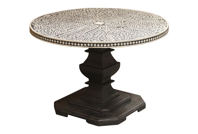 Charcoal Bone Inlay Dining Table - 360