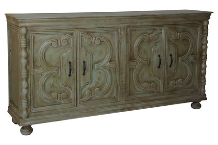 Distressed Green 4 Door Sideboard