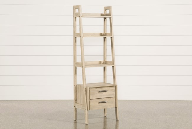 """Allen 71"""" Bookcase Pier With 2 Drawers - 360"""