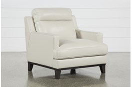 Kathleen Cream Leather Chair