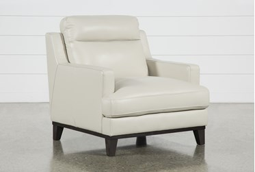 Kathleen Cream Leather Chair