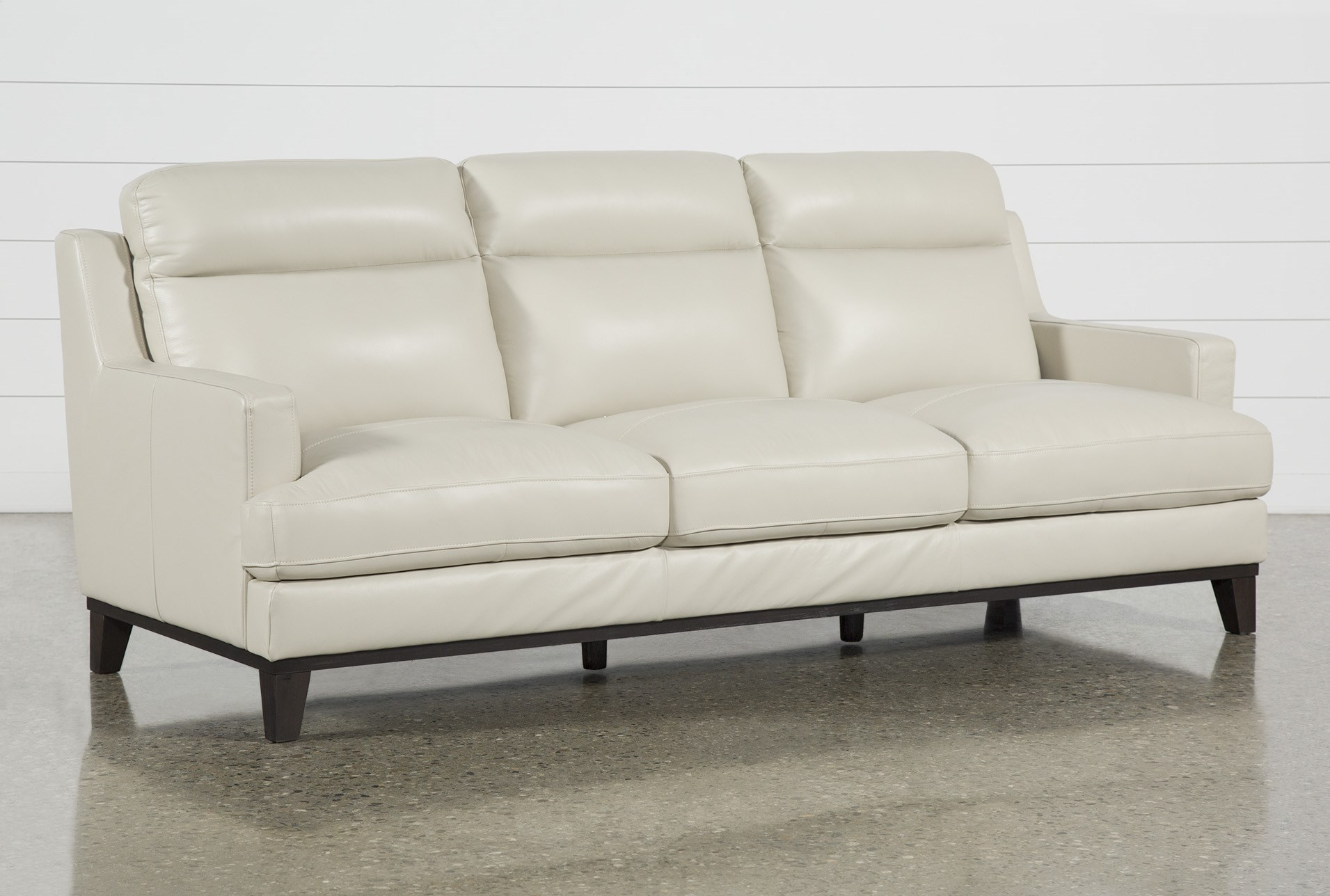 Kathleen Cream Leather Sofa