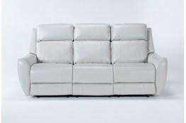 "Bridget White 86"" Power Reclining Sofa With Power Headrest and Lumbar"